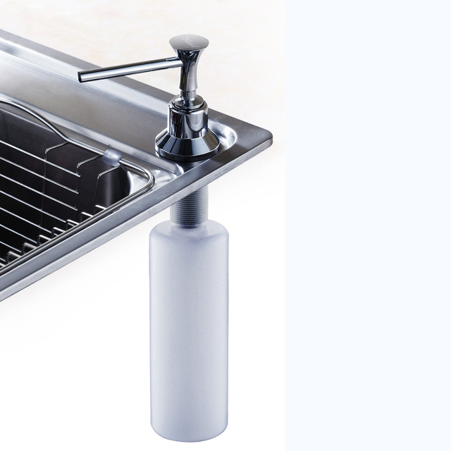 Free Shipping Stainless Steel Kitchen Liquid Soap Dispensers Plastic Bottle Sink Replacement Hand Liquid Soap Dispensers Spray