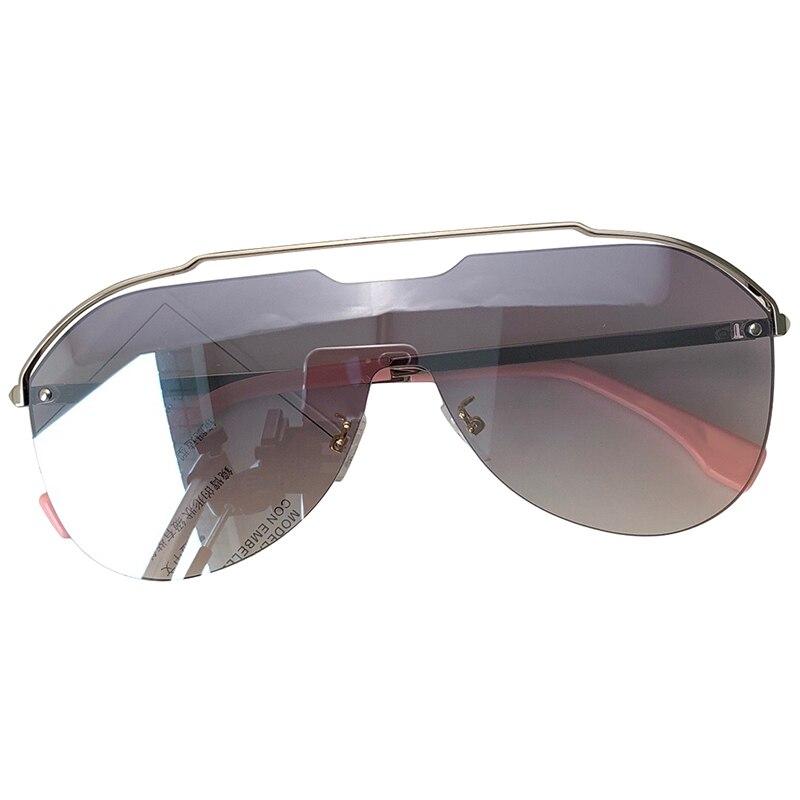 Mode lunettes de soleil femmes 2018 luxe surdimensionné Vintage lunettes de soleil dégradé de haute qualité marque Design lunettes de soleil femmes