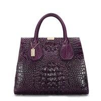 Сумки для Для женщин 2019 кожаные женские Aligator принт сумка на плечо сумка Роскошные Сумки Для женщин сумки дизайнер