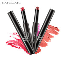 MayCreat 12Pcs/kit Matte Lipstick Long Lasting Waterproof Press Nude Lipstick Matte Pencils Moisturizer Lips Makeup Set