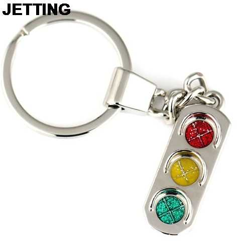 JETTING Keychain Red And Green Lights Traffic Light Mini Car Key Chain Male Women's Key Ring Wholesale 1Pcs