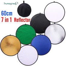 24inch 60cm 7 in 1 Moveable Collapsible Gentle Spherical Images Reflector for Studio Multi Picture Disc Photographic Equipment