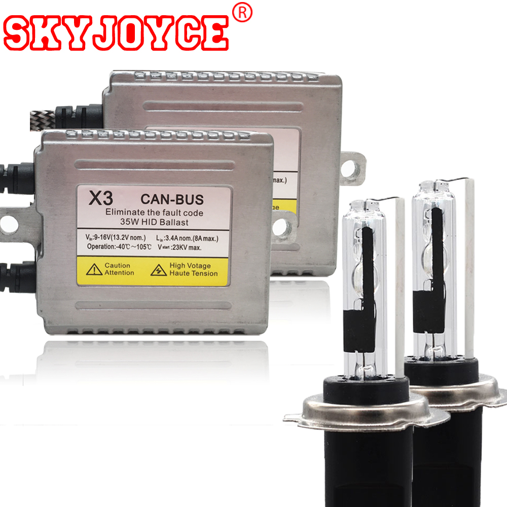 SKYJOYCE HID H7R metal base 35W 12V hid canbus kit H7R xenon hid kit error free ballasts H7R canceller headlight coating layer gztophid 1set 35w 9012 hir2 canbus ballasts hid xenon conversion kits genuine ac for ford edge toyota iq lexus gs350 boss302