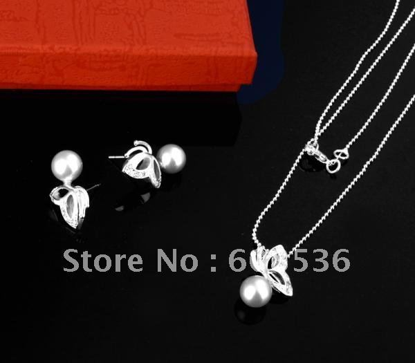 fashion jewelry, Hot 925 sterling silver Jewelry Sets Necklace & bracelet, Brand New S15