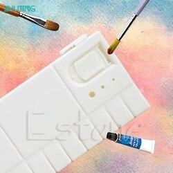 Quente 25 grades grande arte pintura bandeja artista óleo aquarela paleta de plástico branco jan18