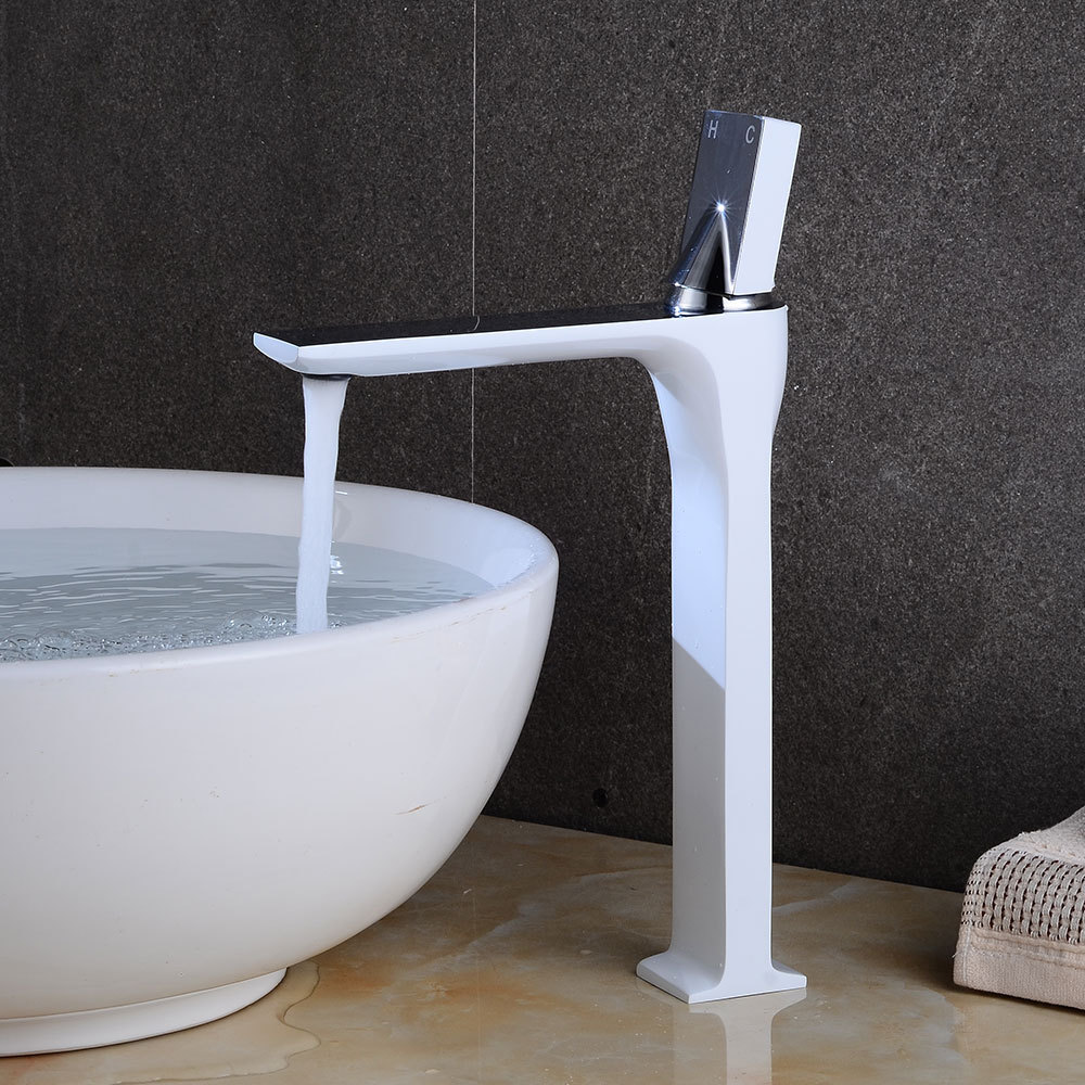 Bathroom Sink Faucet Grifo Bano Basin Faucet Retro White Chrome Faucet Taps Single Handle Hole Bath Hot and Cold Mixer Tap Crane chrome brass bathroom basin faucet counter top cold and hot water mixer tap sink single handle hole bath room taps