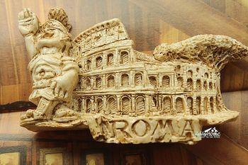 Italia Roma Colosseum viaje turístico recuerdo 3D imán de nevera de resina