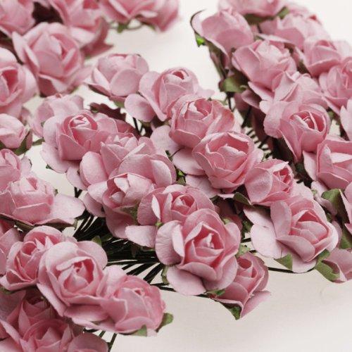 NOCM Hot Approx. 144pcs Mini Paper Rose Flower for Craft Wedding Favor