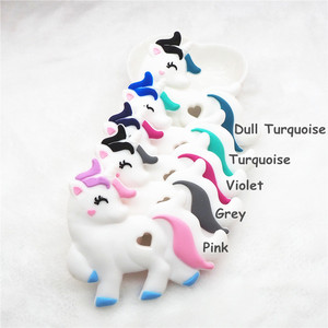 Image 3 - Chenkai 10PCS BPA Free DIY Baby Shower Pacifier Dummy Teether Sensory Toy Accessories Silicone Unicorn Teether