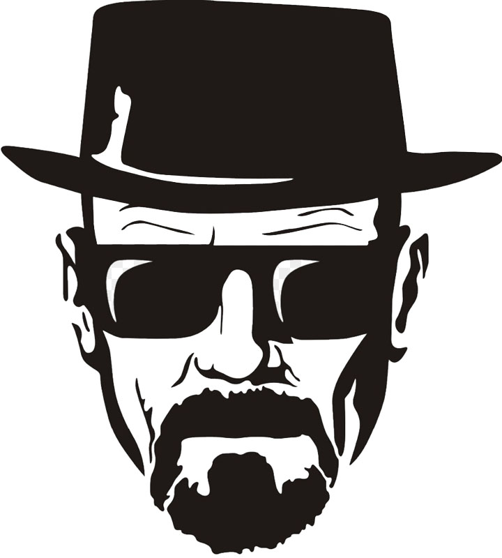 1Pcs Breaking Bad Heisenberg Sticker Vinyl Decal For Laptop Window Car Moto Vinilos Paredes Black Wall Sticker