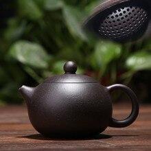 170 ML yixing théière argile pourpre xi shi zisha théière ore beauté chinois kung fu bouilloire costume puer thé noir avec boîte-cadeau