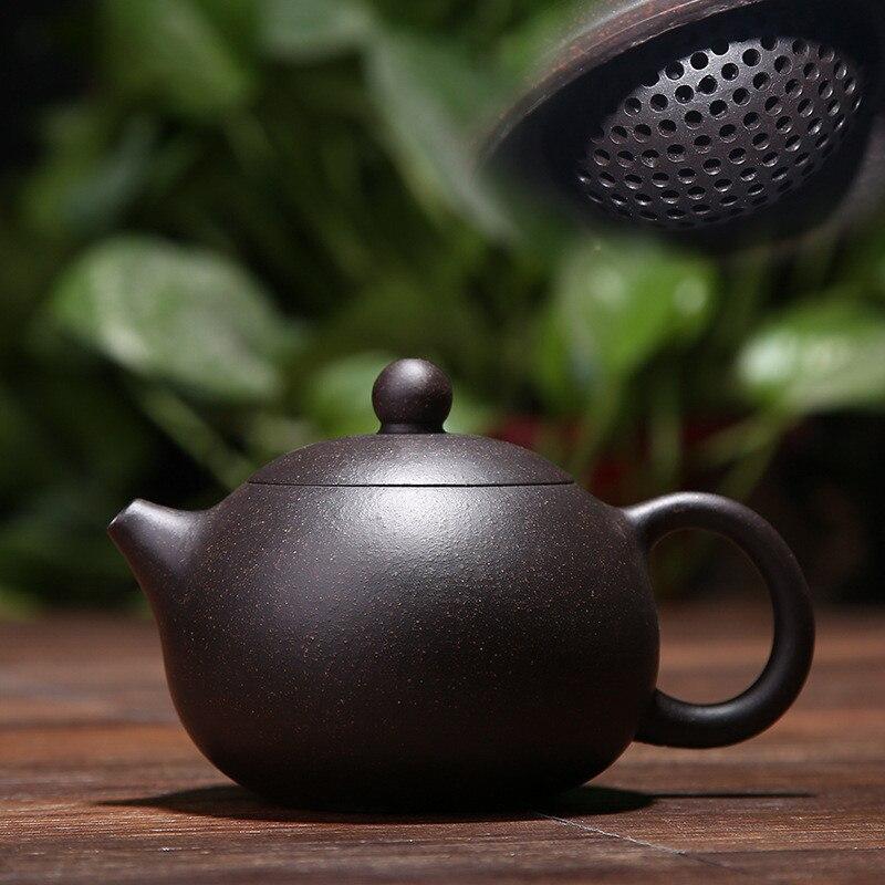 200ML yixing teapot purple clay xi shi zisha pot ore beauty chinese kung fu kettle suit