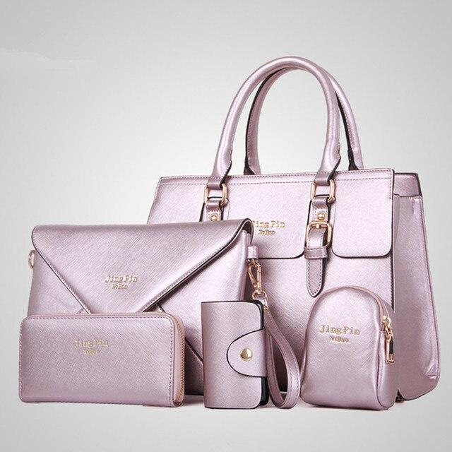 7c0491ac79 2015 new p bag lady fashion leisure Ladies Handbag Shoulder Bag Large buns mother  bag 5 piece mother bag Xiekua package Bolsa