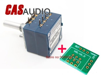 Genuine ALPS Type 27 RK27 Stereo Potentiometer Selectable Resistance 10KA 20KA 50KA 100KA Round Shaft + PCB For Preamp Amplifier japan alps for motor potentiometer 4 joint b50k for harman caton avr40 amplifier sound volume potentiometer