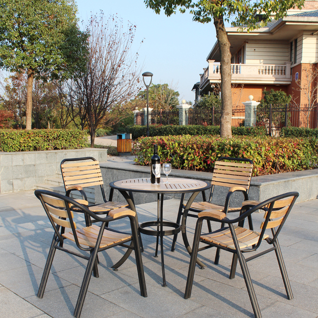 Outdoor Patio Furniture, Wood, Wrought Iron Garden Furniture Balcony Outdoor  Leisure Combination Living Room Part 95