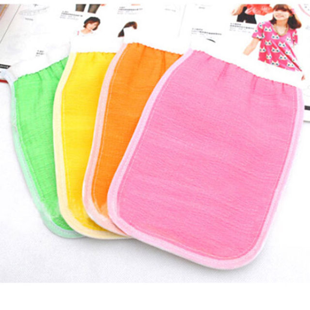 1pc Shower Spa Exfoliator Two-sided Bath Glove Body Cleaning Scrub Mitt Rub Dead Skin Removal 1