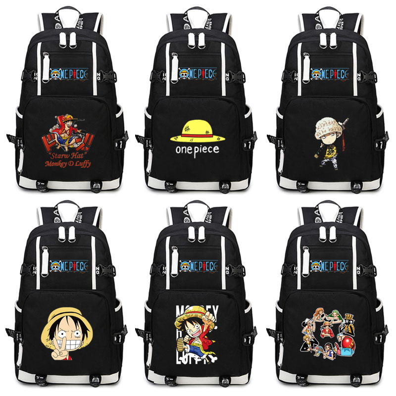 Anime une pièce sac à dos unisexe nouveaux sacs à dos toile sac à dos Anime sac à dos