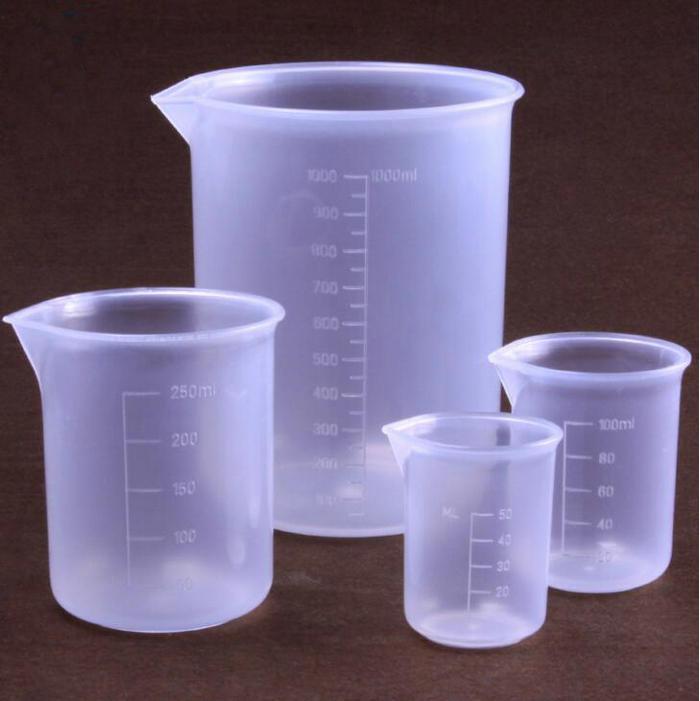 6pcs/set 50ml/100ml/150ml/250ml/500ml/1000ml lab beaker Plastic Measuring Cup Graduated Beaker Household Kitchen Cooking Tool 10pcs set 5ml 10ml 25ml 50ml 100ml 150ml 200ml 250ml 300ml 500ml glass beaker graduated transparent borosilicate glass beaker