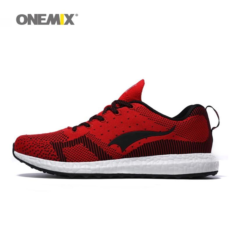 Onemix nueva llegada 2017 transpirable tejido de primavera zapatos deportivos za