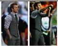 Os novos 2016 homens de moda terno do lazer colete / Men ' s banquete de casamento cavalheiro terno colete / Beckham com terno colete com decote em v homens