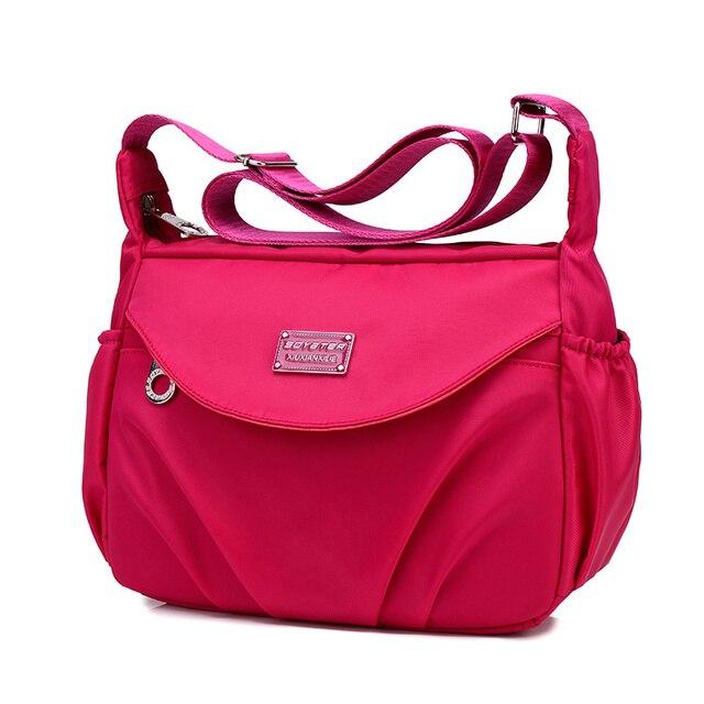 Mulheres Messenger Bags Feminino Bolsas de Viagem Da Moda Pequeno Bolinho Hobos Crossbody Bolsas Das Senhoras Sacos de Ombro de Nylon Casuais 2017