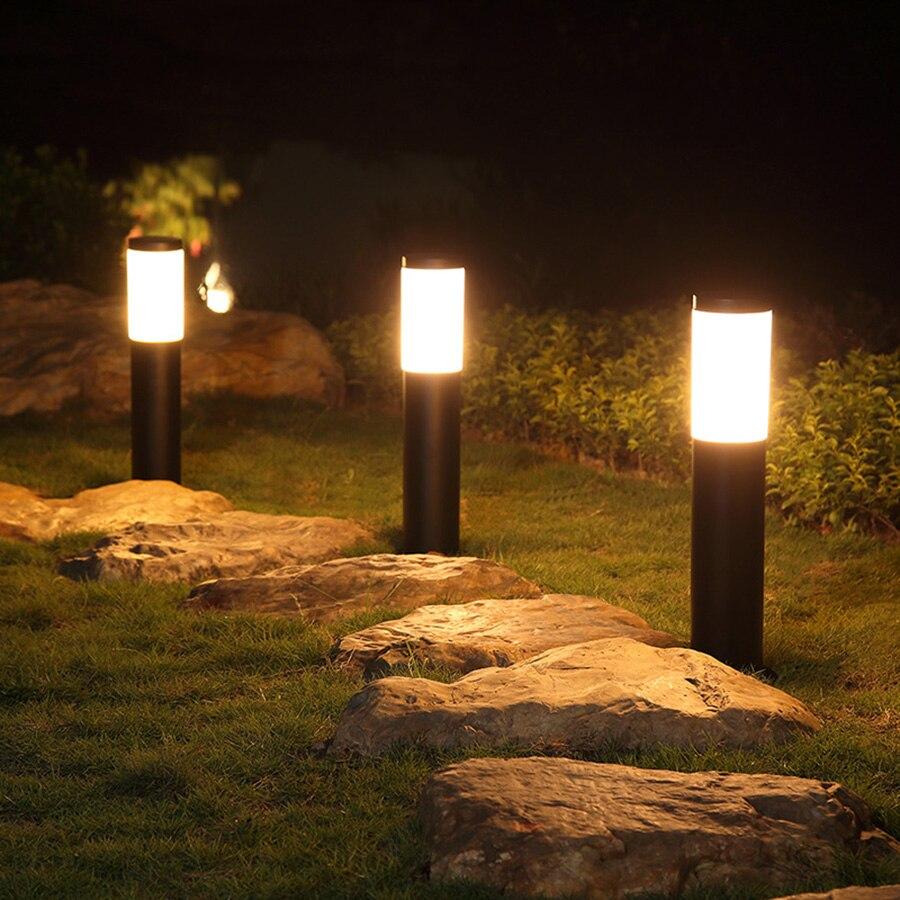 2 шт./лот открытый сад столб Газон лампа IP65 Водонепроницаемый вилла патио пейзаж пост Газон Свет Нержавеющаясталь Колонка Сообщение лампа