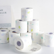 12Roll Fashion Printed Toilet Paper Home Bath Room Native Wood Pulp Can Be Wet Water Environmental Towels
