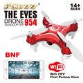 F16448/50 FQ777 954 RC Quadcopter БНФ Глаза WI-FI Камера FPV 6-ось ГИРОСКОПА БНФ БЕЗ Контроллера Черный Белый Красный Мини Drone