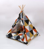 Cute dog tent patterned cottage dog house pet tents can be disassembled