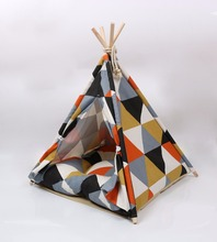 Cute dog tent patterned cottage house pet tents can be disassembled