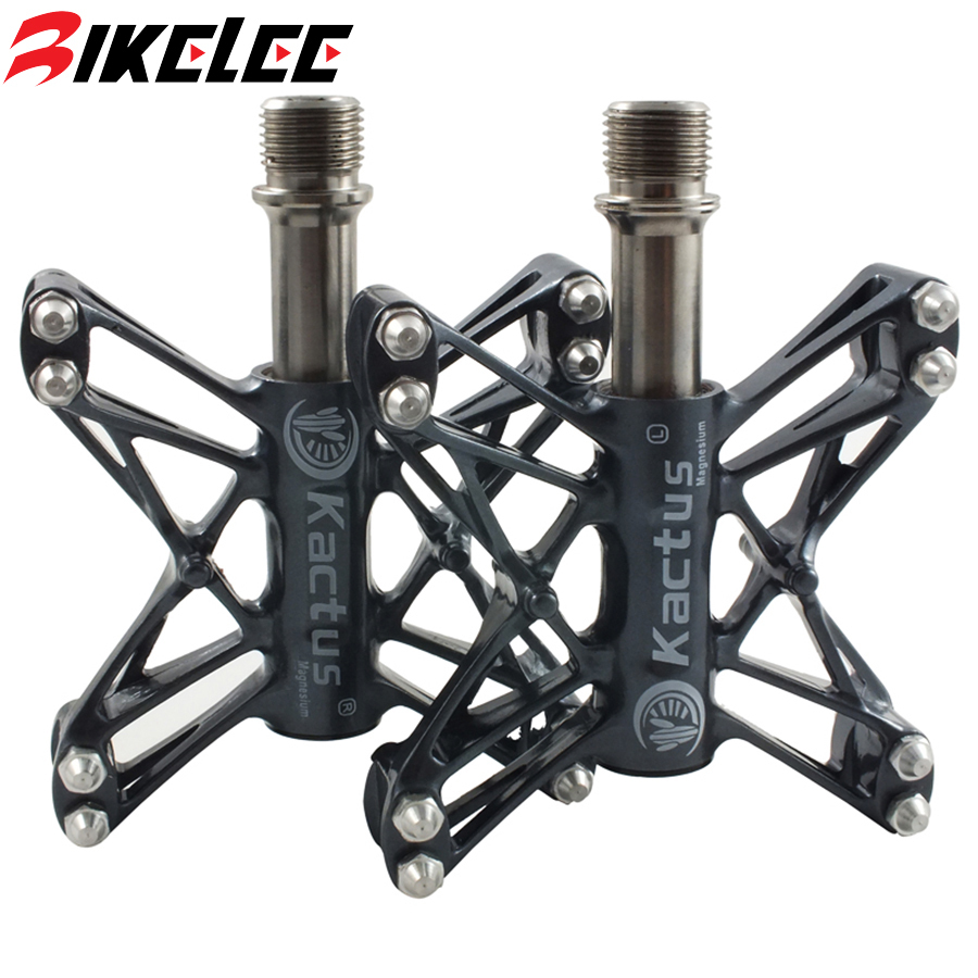 2017 Newest Hot Sale 160g/pair Mtb Ultralight Magnesium Alloy Cleats Mountain Bike Bicycle Cycling Titanium Pedal Free Shipping rockbros 9 16 magnesium alloy bicycle pedal titanium spindle ultralight mountain bike pedal 5 colors