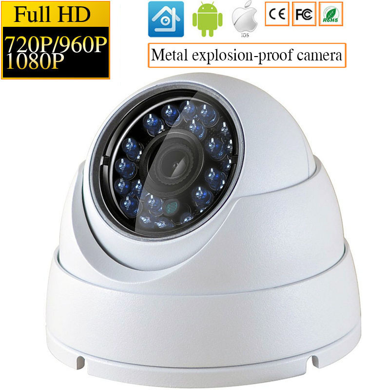 IP Camera 1080P 960P 720P Security Indoor Outdoor IP Cam Day/Night View Home CCTV ONVIF Surveillance Cameras Metal Dome Camera 960p cctv surveillance home security outdoor day night 36ir 3 6mm ip camera