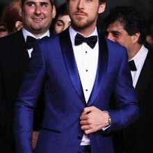 Костюм мужской классический стильный на заказ/голубого цвета мужские свадебные костюмы двойка Slim Fit женихов смокинг Дешевые Пром Костюм(куртка+ брюки для девочек) Homme костюм для похудения