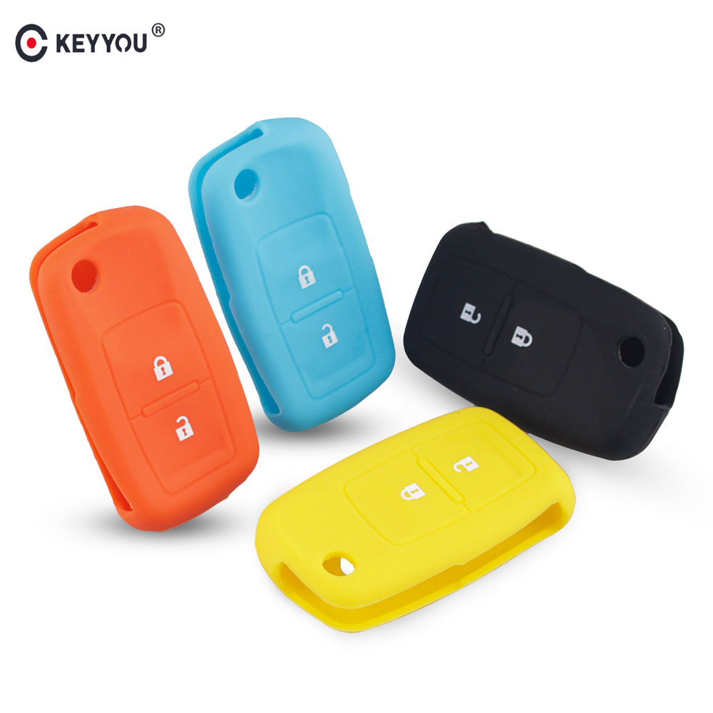 KEYYOU 2 Buttons Silicone Flip Key Case Cover For Vw MK4 Seat Altea Alhambra Ibiza Polo Golf 4 5 6 Transporter Amarok Sharan