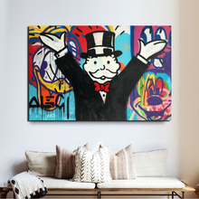 Alec Monopoly Unfolding Hands Canvas Painting Posters Prints Marble Wall Art Decorative Picture Modern Home Decoration