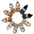 Venta al por mayor Suave Único Bebés Niñas niños de Lunares de Leopardo Primeros Caminante Recién Nacido Con Cordones de Cuero de Gamuza Mocasines Zapatos Del Niño
