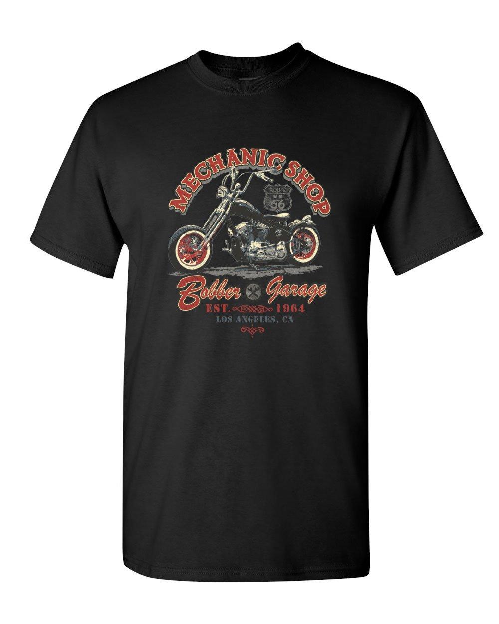 Body Shop T-shirt Motorcycle Garage Formula Champions Race Route 66 Tshirt