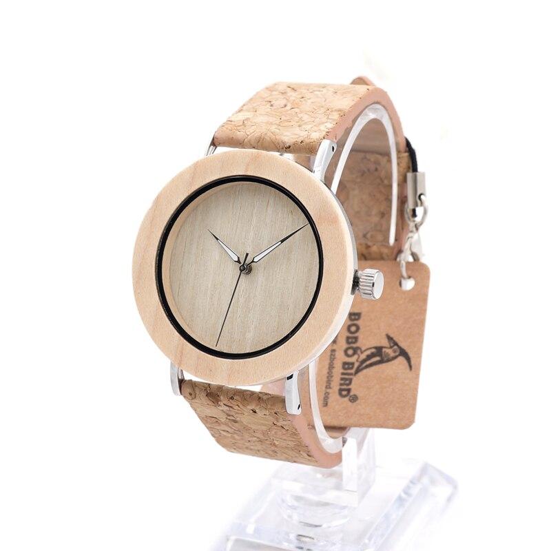 2016 Fashion Luxury BOBO BIRD Brand Quartz Watches Men Casual Military Leather Strap Watch E21