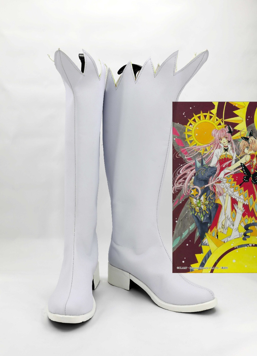 Sakura's Shoes Card Captor Cosplay Boots White Color Halloween Carnival Women Coplay Shoes