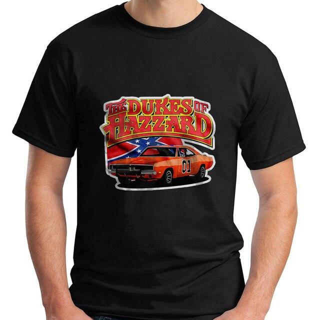 The Dukes Of Hazard Retro TV Show Movie Short Sleeve Black Mens T - Car show t shirts for sale