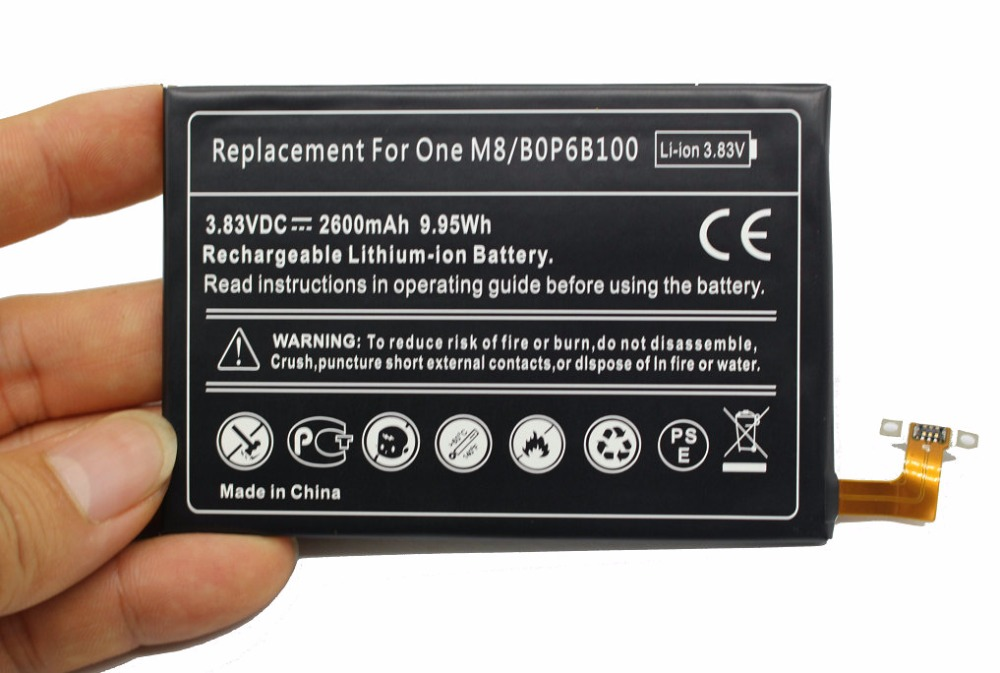 High Quality 2840mAh BOPGE100 B0PGE100 battery for HTC ONE
