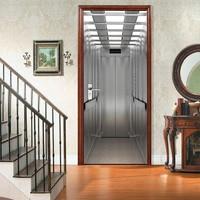 Nova 3D Casa Autocolantes Decoração & Cartazes DIY Porta Do Elevador Adesivo À Prova D' Água PVC Sala Murais De Parede papel de Parede Poster Removível|Adesivos p/ porta| |  -