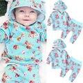 Bebê Recém-nascido Menina Tops Camisola Do Hoodie + Calças Do Bebê Meninas Floral Roupas Outfits Roupas Definidos