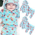 Newborn Infant Baby Girl Tops Hoodie Sweatshirt +Pants Baby Girls Floral Clothing Outfits Clothes Set