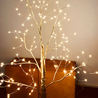 1 Pcs Simulation Tree LED Lights Decoration Christmas Party Home Festival Indoor Outdoor CLH@8
