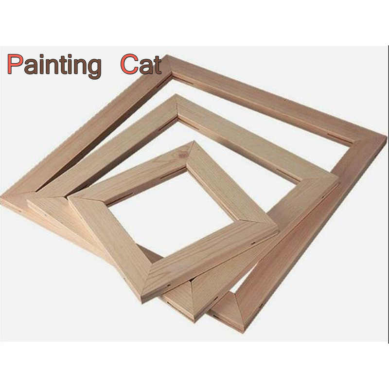 Wood Frame For Canvas Painting Picture Factory Provide DIY Wall Photo /Poster / Family /Art Wooden Wedding Frame Home Decor