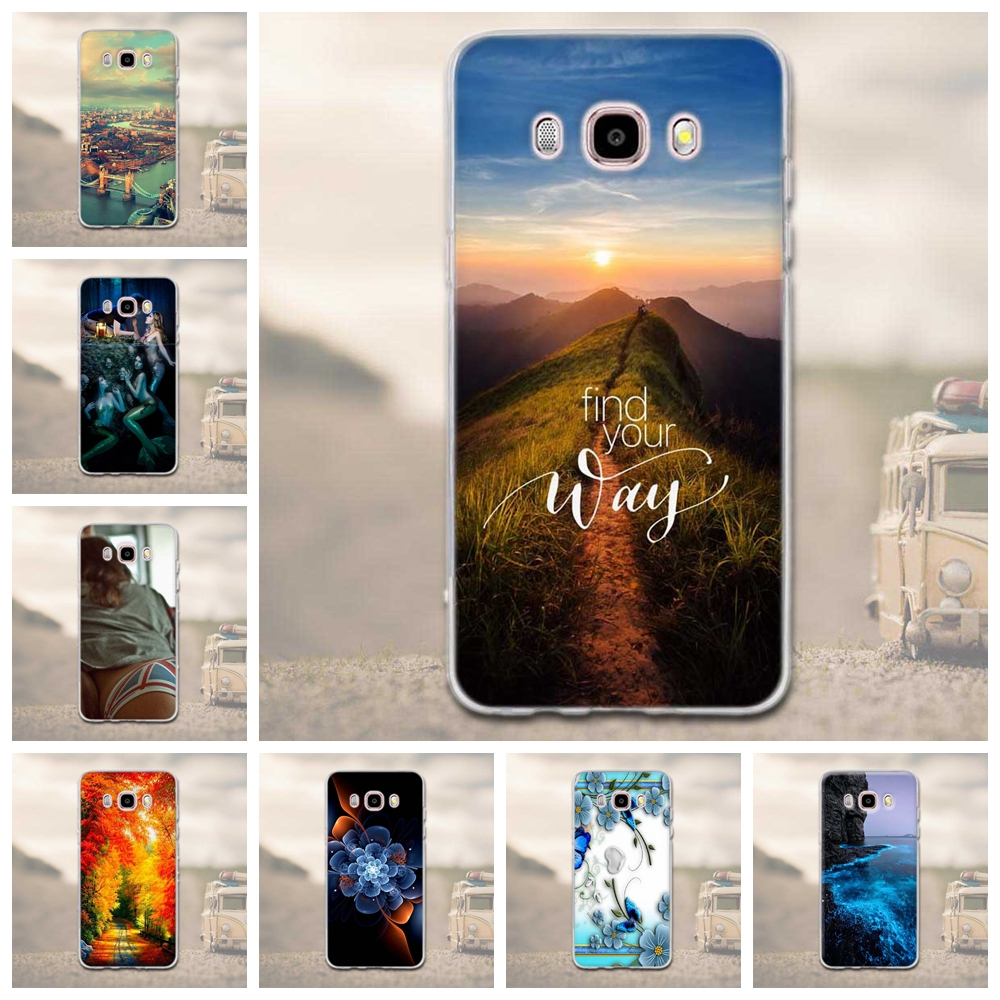 MJ-Case Trading Co.,Ltd Luxury 3D Relief Print Soft TPU Case For Samsung Galaxy J5 2016 J510 J510F SM-J510F Silicone Cover For Samsung J5 2016 Cover Bag