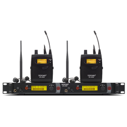 Double channel In Ear Monitor Wireless System, Twin transmitter Monitoring Professional for Stage Performance UK-2050