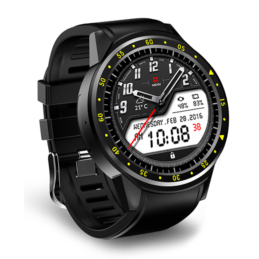 Galleria fotografica F1 GPS Sports <font><b>Smartwatch</b></font> Phone Bluetooth Heart Rate Sleep Monitor Smart Watch Support Sim TF Card Camera Multi Sports Model