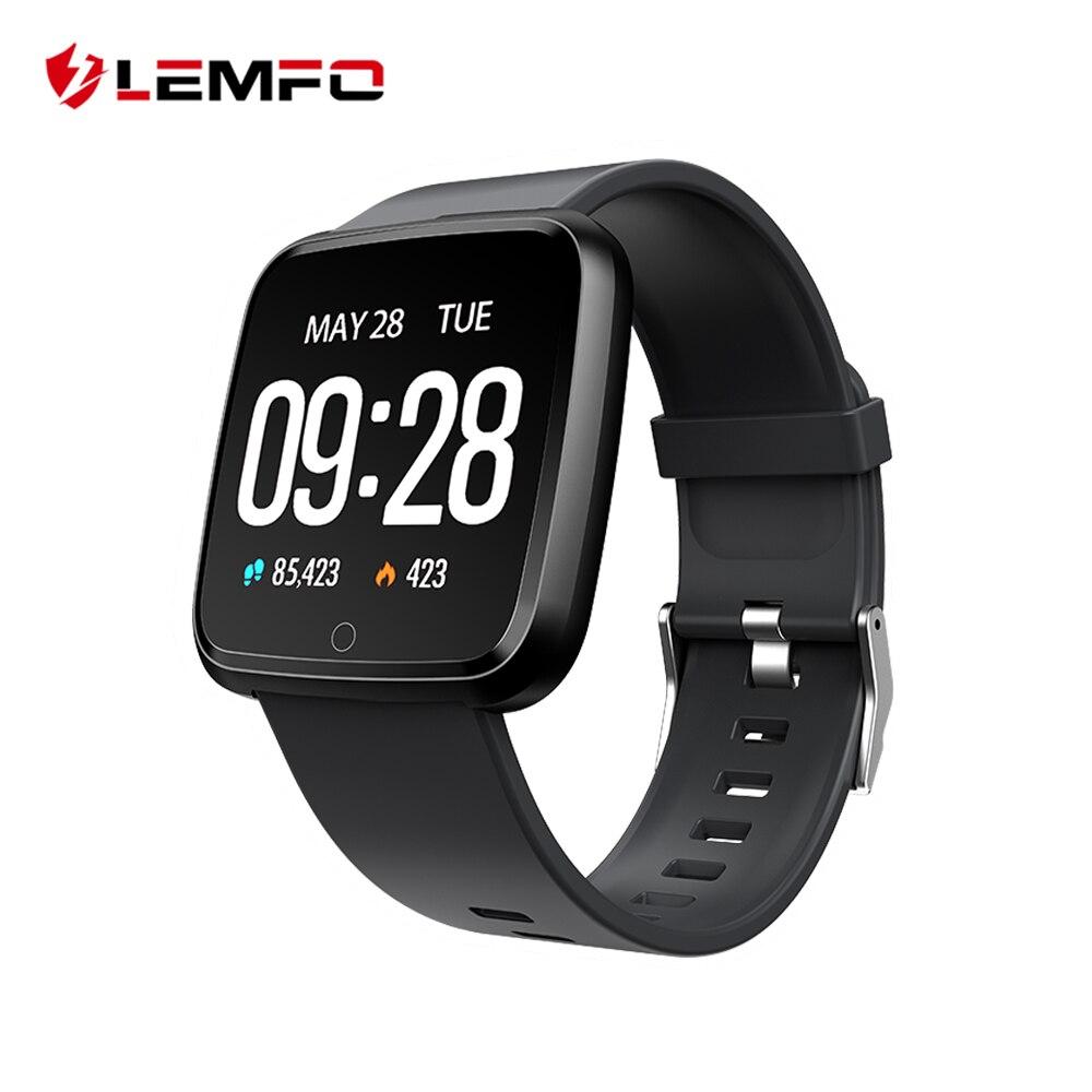 LEMFO Sport Smart Uhr IP67 Wasserdichte Blutdruck Sauerstoff Fitness Armband Aktivität Tracker Für Android IOS Männer Frauen